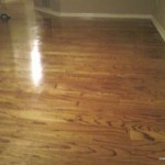 Worn floor after recoat